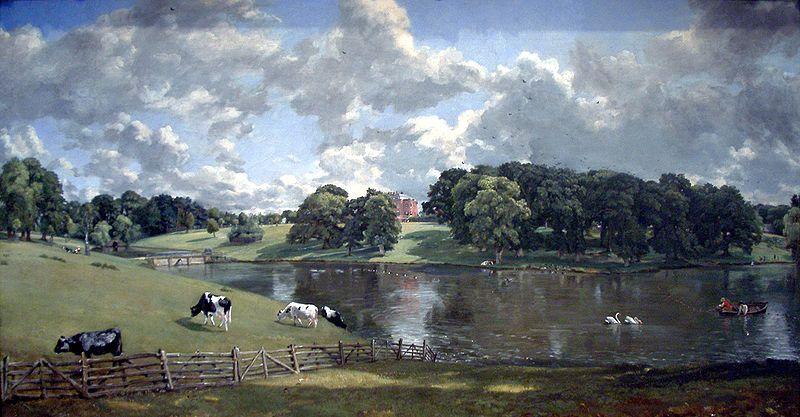 Constable's Wivenhoe Park, Essex, 1816. NGA.