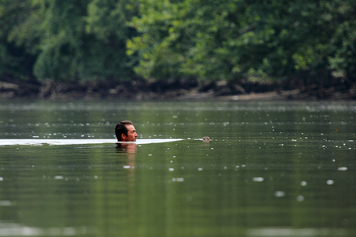 Naked man caught floating down the San Jacinto River