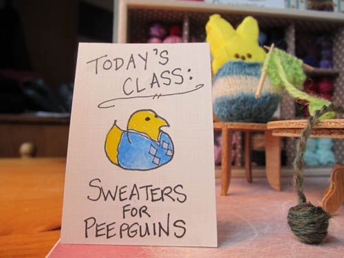 peepguin in an argyle sweater