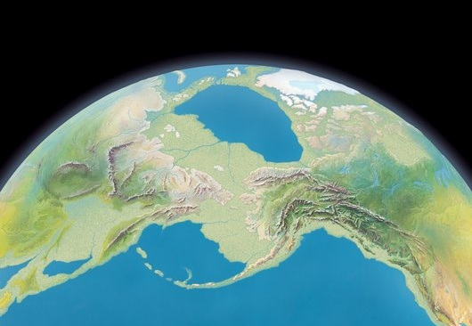 Bering land bridge, artwork