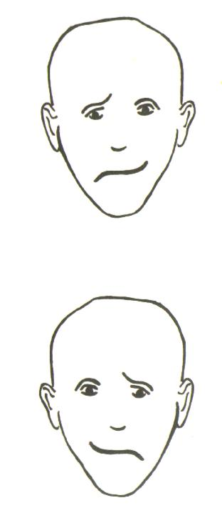 Line Drawing Sad Face : The last word on nothing guest post art science of lefty portraits