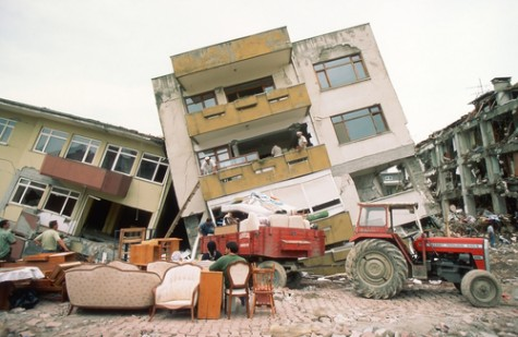 The 7.6 Izmit earthquake, Turkey, 1999.