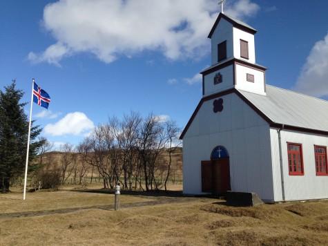 The church at Prestbakki, Iceland