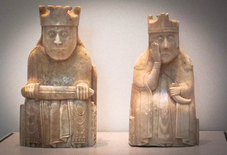 two of the Lewis chessmen