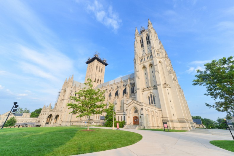 washington national cathedral (with earthquake damage)