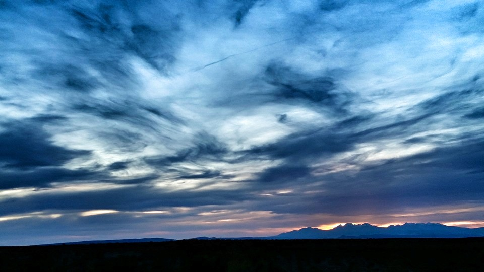 La Sal Spring Sunset from Burn Canyon