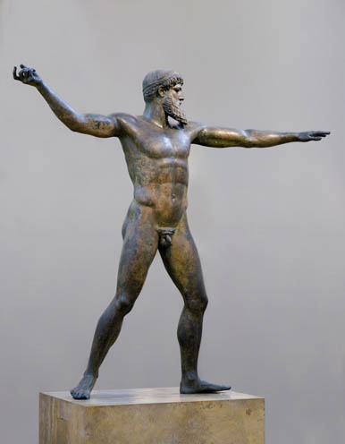 Zeus in a rare, non-psychopathic moment