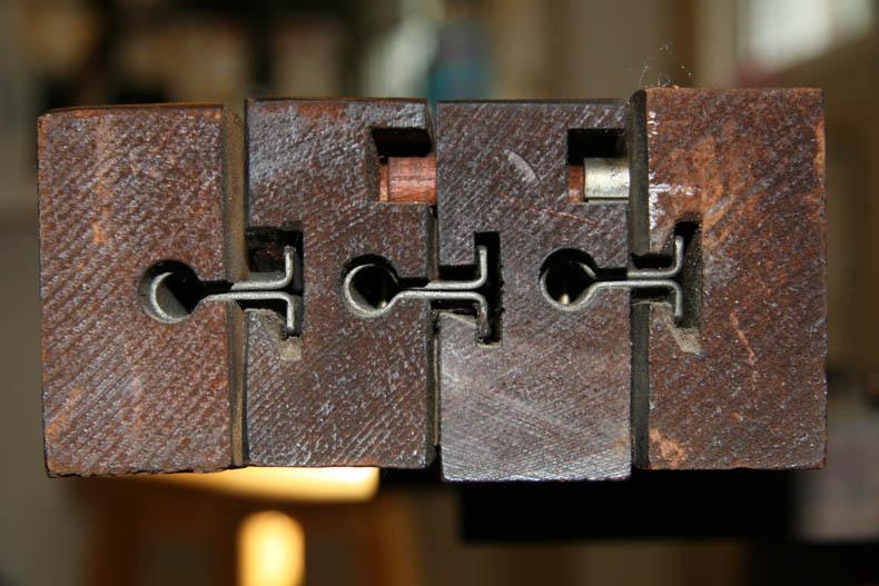 detail of oak table